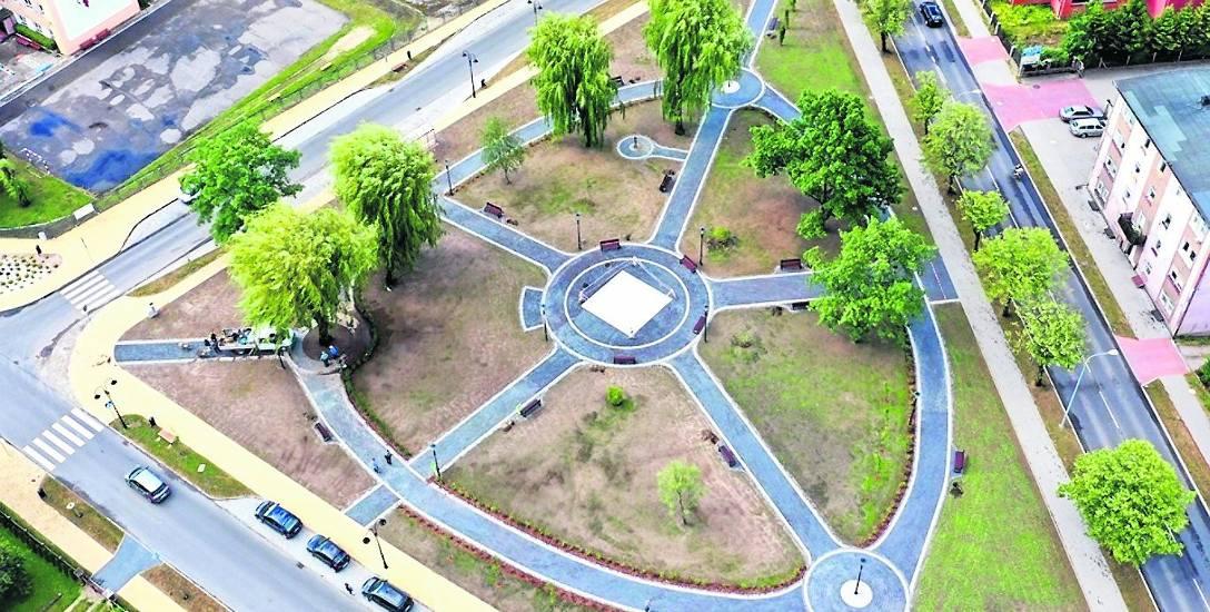 Do tej pory na terenie Sławna przebudowany został m.in. skwer, na którym zamontowano podświetlaną fontannę