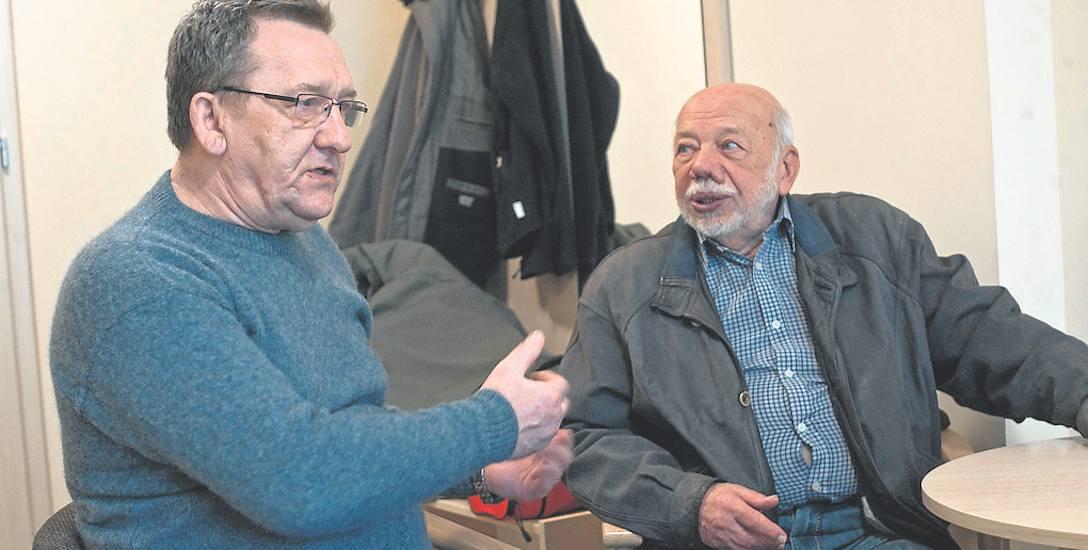 Z lewej: Jan Mordasiewicz, uczestnik protestów robotniczych w Szczecinie w 1980 roku. Z prawej: Zbigniew Galper, powstaniec warszawski. Przez tydzień