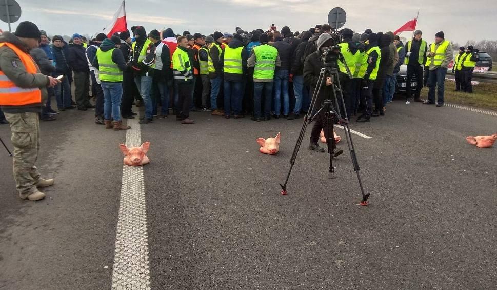 Film do artykułu: Protest rolników na autostradzie z Łodzi do Warszawy. W akcji gospodarze z całego kraju