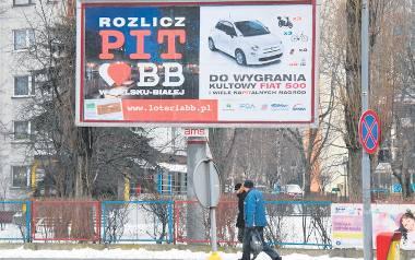 W Bielsku-Białej o niecodziennej loterii informują m.in. bilboardy. Swój udział można zgłaszać do 6 maja