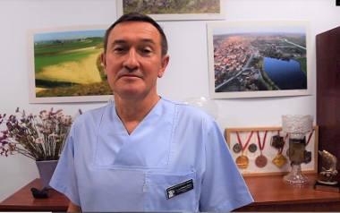 Doktor Grzegorz Świercz, kierownik Kliniki Ginekologii i Położnictwa Wojewódzkiego Szpitala Zespolonego w Kielcach.