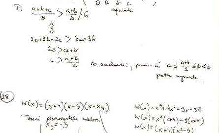 Odpowiedzi z matury z matematyki 2012. Sprawdź rozwiązania