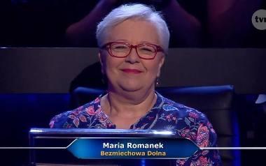 """Maria Romanek wygrała w Milionerach. Emerytowana nauczycielka wygrała milion złotych. Kim jest zwyciężczyni """"Milionerów""""? [zdjęcia]"""