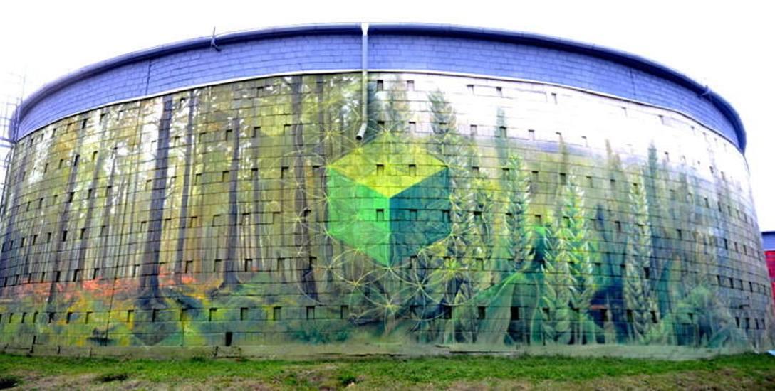 Silosy w Zielonej Górze przy  ul. Chmielnej są ozdobione muralami dzięki budżetowi obywatelskiemu w grupie projektów do 150 tysięcy złotych