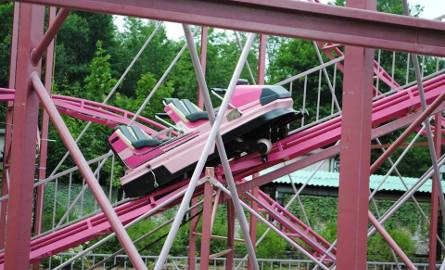 Wypadek na kolejce w parku rozrywki