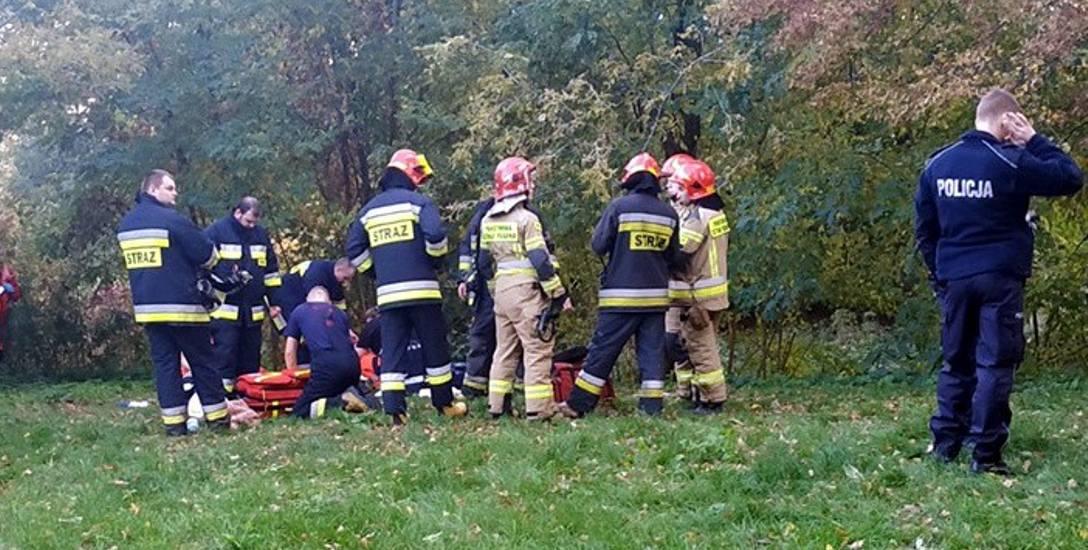 36-latek wpadł do Bzury i utonął. Nieszczęśliwy wypadek pod Łowiczem?