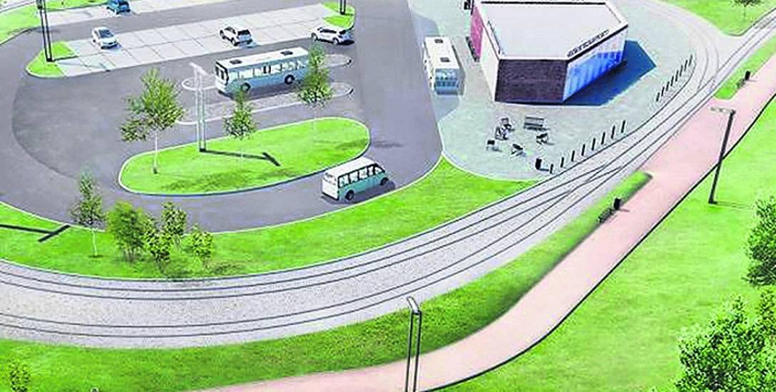 Tak wygląda wizualizacja centrum przesiadkowego w rejonie ul. Szpitalnej i Kombatantów