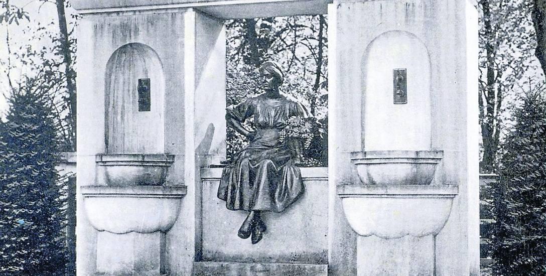 Dawny pomnik winiarki Emmy z fontanną ufundowała miastu ... mieszkanka Emma Freitaga