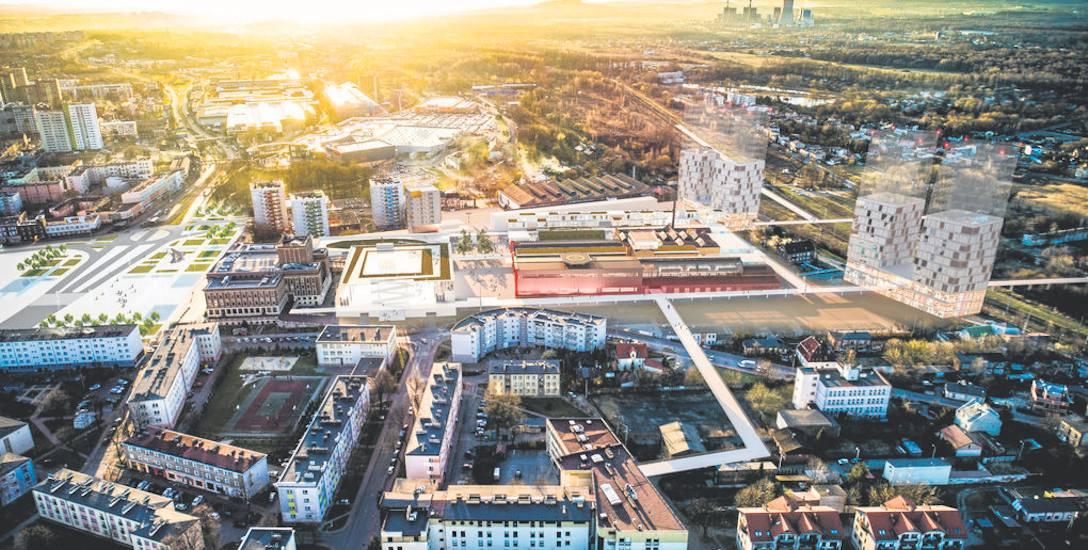 Tak według wstępnych planów mogłoby wyglądać nowe śródmieście Dąbrowy Górniczej