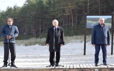 Przekop Mierzei Wiślanej. Jarosław Kaczyński ze szpadlem w Nowym Świecie. Przekop prawie ruszył