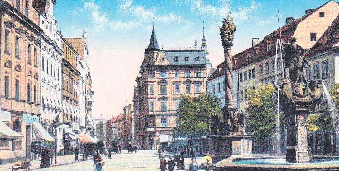 Świdnica, północna pierzeja Rynku w latach 1920-1935, przed II wojną światową
