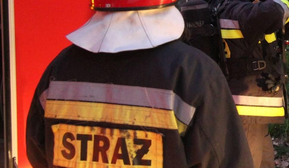 Film do artykułu: Pożar auta w gminie Klimontów. Są ranni