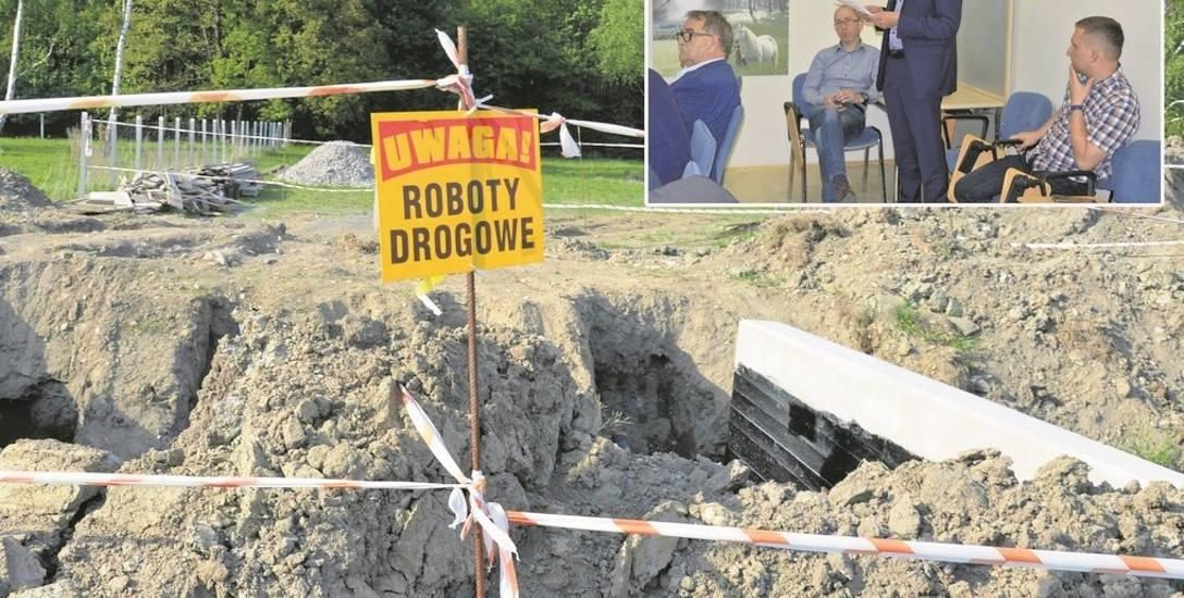 Deweloper zaczął już stawiać przepust nad potokiem Klikowskim. Mieszkańcy Piaskówki, którzy byli obecni na Komisji Rozwoju Miasta, chcą wstrzymać inwestycję