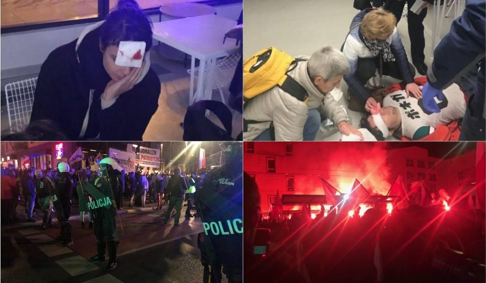 Film do artykułu: Marsz narodowców we Wrocławiu rozwiązany. Są ranni, wśród nich policjant. Dutkiewicz: Brak wsparcia policji. Ta odpowiada: Był pan tam?