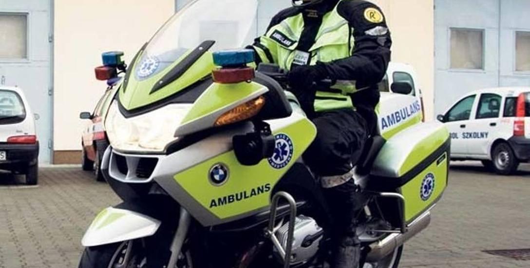 Motocykl ratunkowy w łódzkim pogotowiu - już od 27 kwietnia będzie nim jeździł ratownik na autostradach.