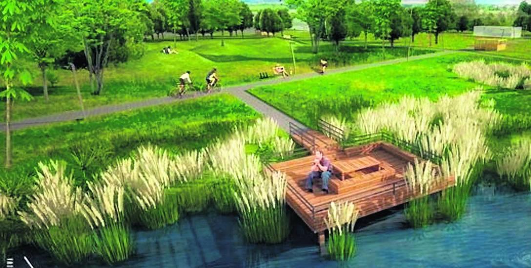 W parku akademickim  zaprojektowano, między innymi, ścieżki piesze i rowerowe, promenady, pomosty czy wieżę widokową. W drugiej strefie przewidziano