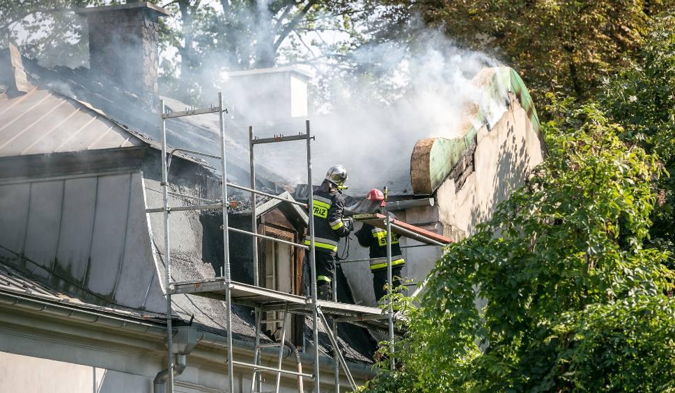 Film do artykułu: Pożar przy ulicy Kazimierza Wielkiego w Krakowie [ZDJĘCIA]