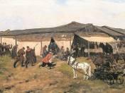 """""""Jarmark na Kresach"""" jest jednym z najbardziej znanych obrazów Józefa Chełmońskiego"""