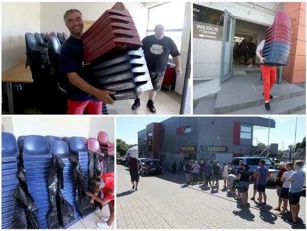 Ruszyła sprzedaż krzesełek ze starego stadionu Pogoni Szczecin. Ile kosztują? Co zrobią z nimi fani? [ZDJĘCIA]