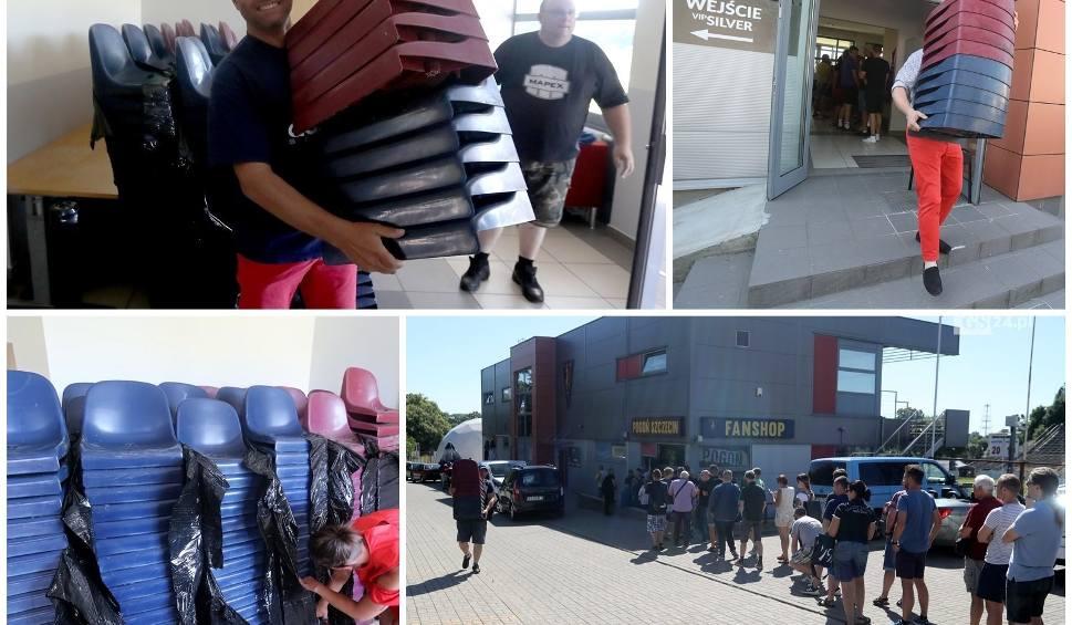 Film do artykułu: Ruszyła sprzedaż krzesełek ze starego stadionu Pogoni Szczecin. Ile kosztują? Co zrobią z nimi fani? [ZDJĘCIA]