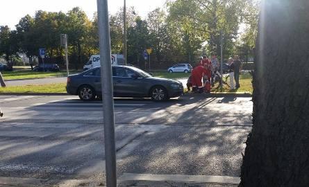 Ul. Składowa: Potrącenie rowerzystki (zdjęcia)