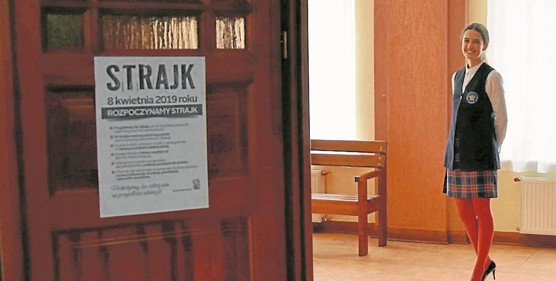 Inga Wawrzynkowska z PG nr 6 w Łomży sprawnie poradziła sobie z wczorajszymi egzaminami