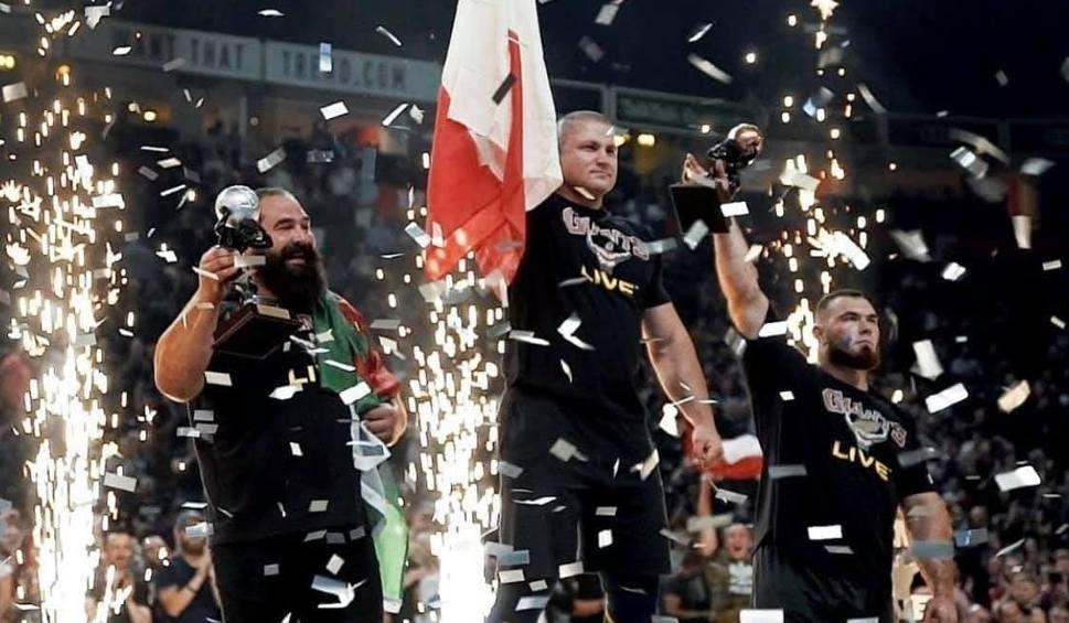 Film do artykułu: Strongman Mateusz Kieliszkowski zdobywa złoty medal na Giants Live 2019 w Manchesterze! Pobił kolejny rekord świata! (ZDJĘCIA, WIDEO)