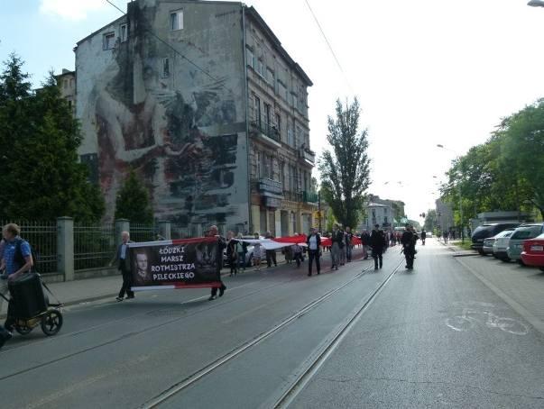 Marsz Pamięci Witolda Pileckiego przeszedł ulicami Łodzi JEST FILM W SERWERZE! FOTO WSPÓLNE!