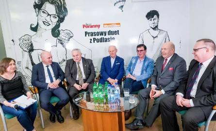 Uczestnicy debaty poświęconej szansom Podlasia w obszarze rolnictwa w nowej perspektywie budżetowej 2021-2027