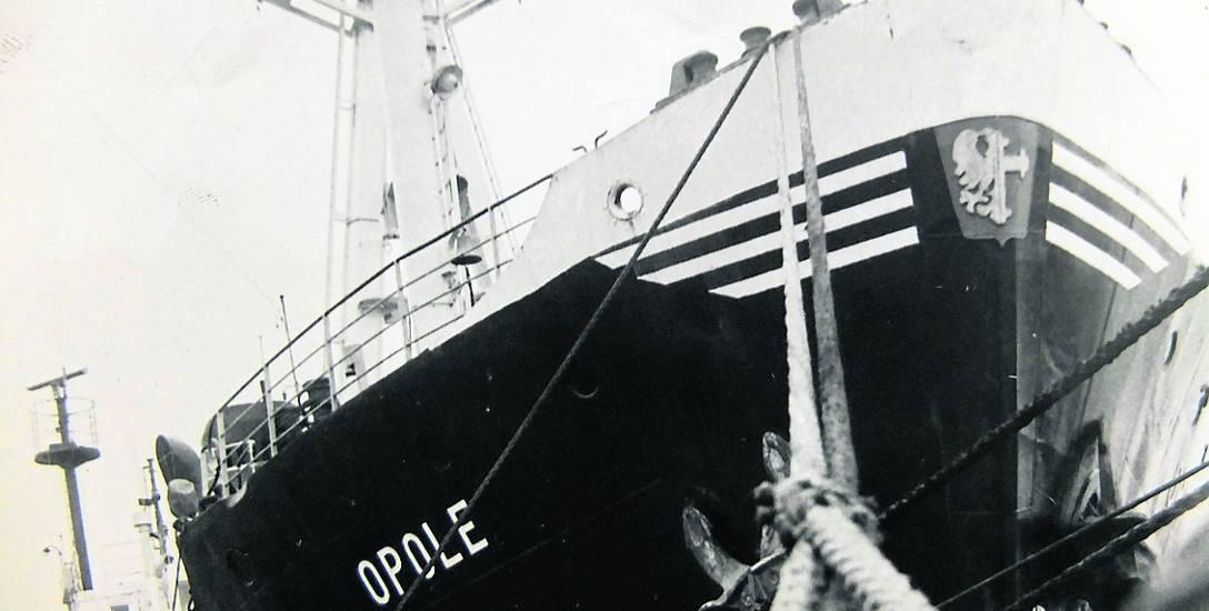 S/S Opole był jedynym statkiem, który pływał z herbem miasta na kadłubie.