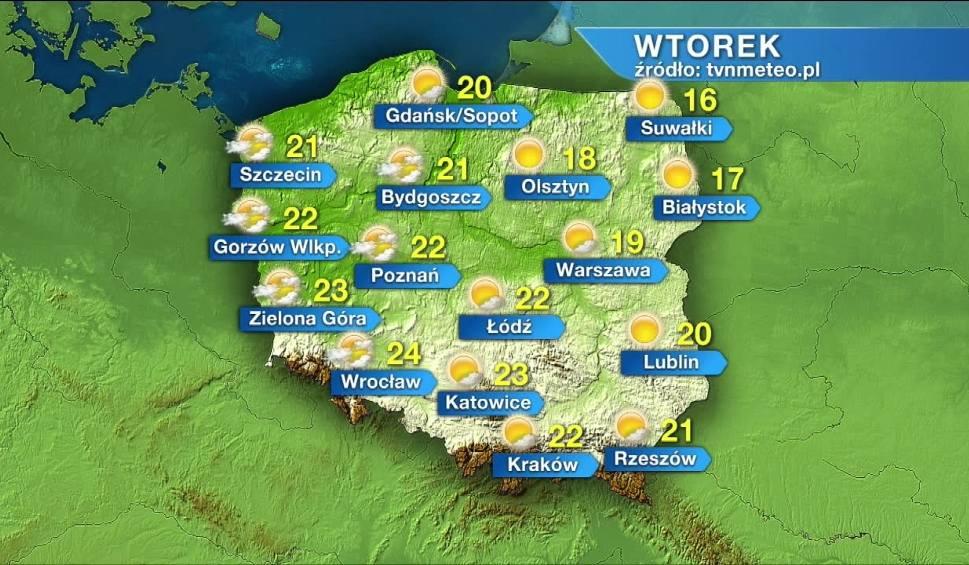 Film do artykułu: Pogoda na wtorek, 7 września. Pogodnie i ciepło, w Krakowie na termometrach 22 stopnie