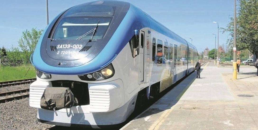 Pociąg Pesa Link. Tego typu szynobus ma być od jutra widoczny na trasie kolejowej ze Sławna do Darłowa