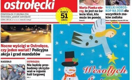 """Narysuj świąteczną okładkę """"Tygodnika Ostrołęckiego"""""""