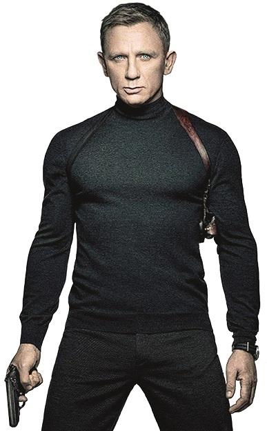 Daniel Craig, rodowity Brytyjczyk, wcielił się w agenta 007 już po raz czwarty. Odmienił oblicze postaci - do tej pory James Bond był postacią na poły