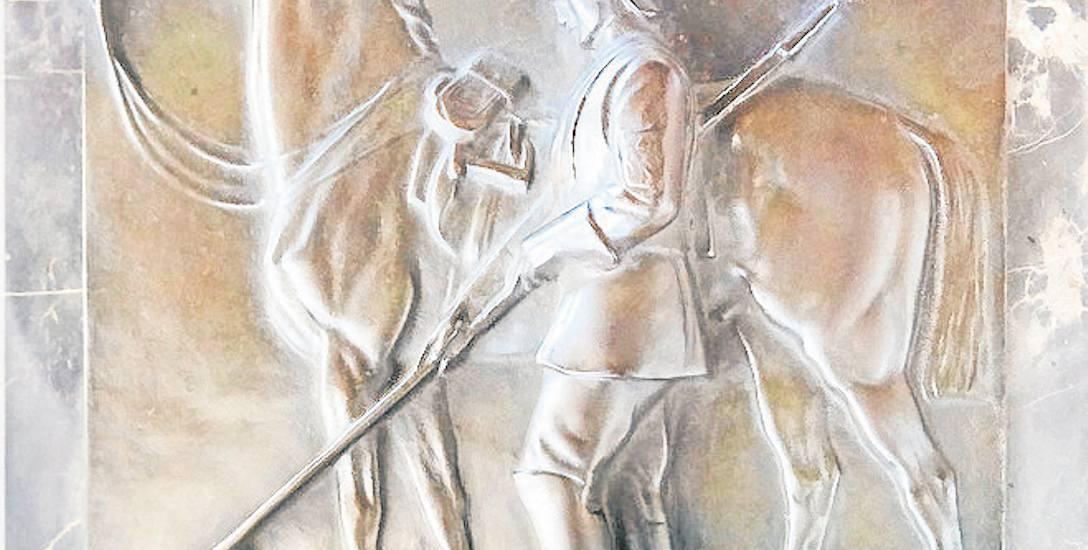 Tablica z dawnego pomnika Kirasjerów