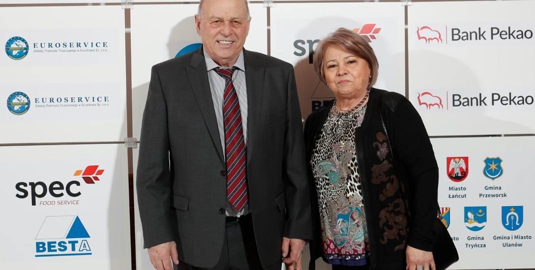 Grzegorz Lato z żoną Zdzisławą podczas niedawnej gali Podkarpacka Nike.