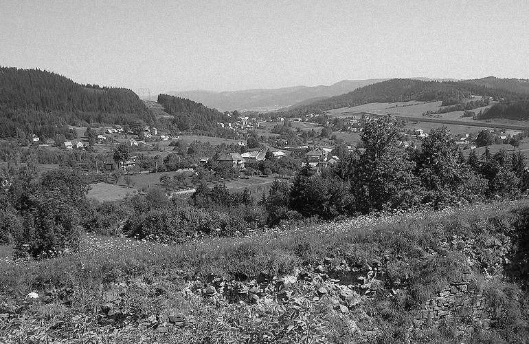 Przełęcz Jabłonkowska widziana ze starych fortów.
