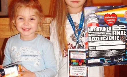 Zuzanna Wolszczak zebrała 1600,35. Na zdjęciu ze swoją młodszą siostrą Laurą.