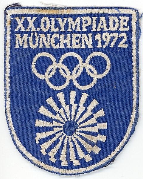 Oficjalna naszywka z logo Olimpiady w Monachium [1]