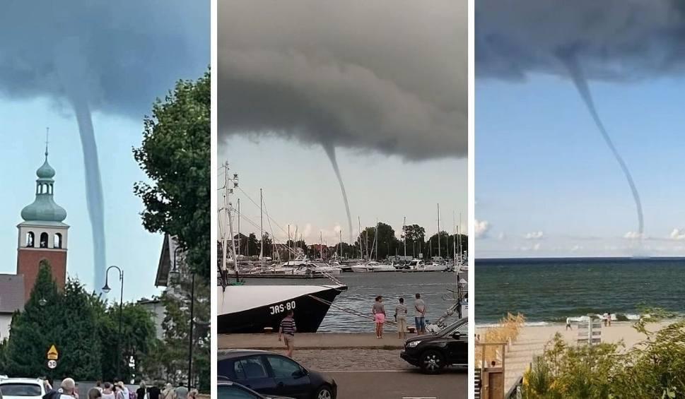 Film do artykułu: Sceny jak z filmu katastroficznego! Trąby wodne nad Bałtykiem. Niesamowite zjawisko nad wodami Zatoki Puckiej!