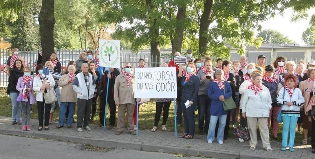 Manifestacja pod Res-Drobem.