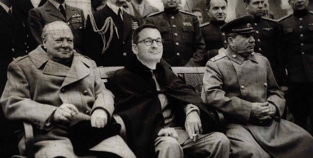Tak internauci komentują słowa premiera Morawieckiego w Sandomierzu. Z konferencji w Jałcie w 1945r. wycięli Roosvelta