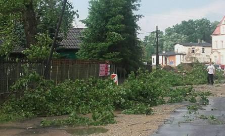 Gwałtowne burze przeszły na Lubuskiem. Trwa usuwanie skutków nawałnicy, która w sobotę, 25 czerwca, przeszła nad Otyniem.