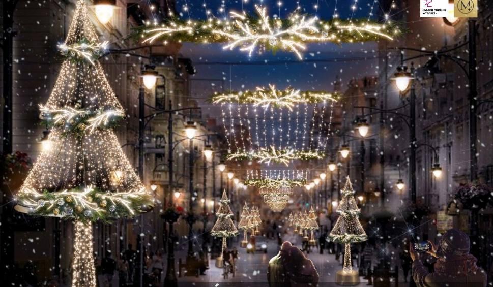 Film do artykułu: Nowa iluminacja świąteczna na Piotrkowskiej. Będą choinki, sikorki i sarenki