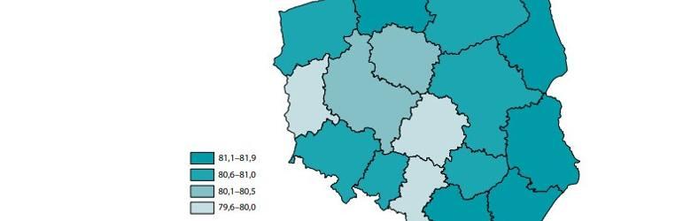 Jeśli chodzi o kobiety, przeciętna długość ich życia w województwie lubuskim to 79,6 - 80 lat.