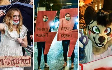 Najciekawsze kostiumy na demonstracjach. Strajk Kobiet 2020