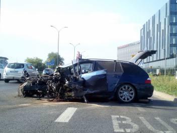 Wypadek na ul. Konopnickiej w Krakowie