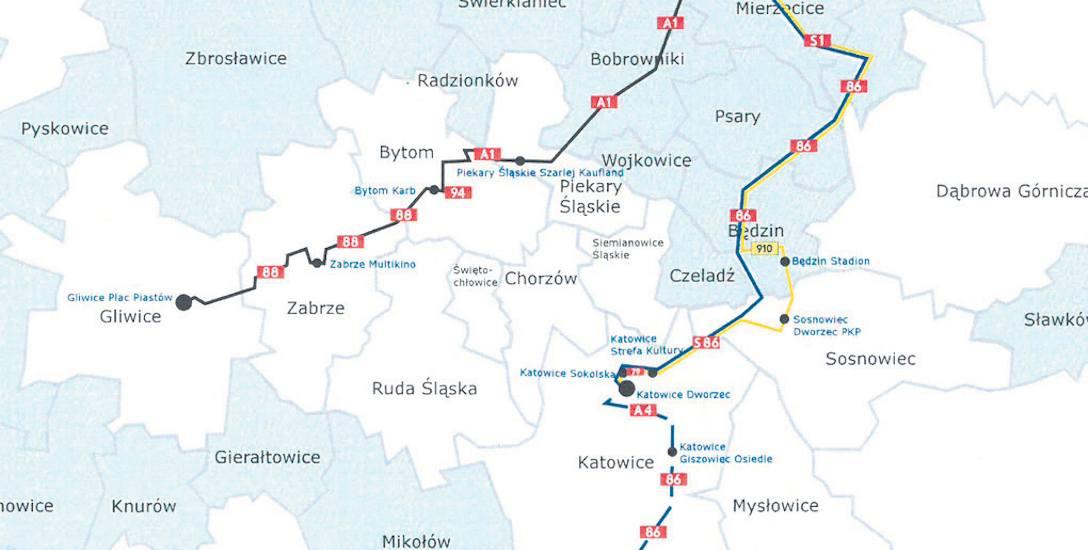 Dojazd na lotnisko Katowice Airport w Pyrzowicach. Będą 4 linie autobusowe, dziś jest jedna. Od 2022r. dojdzie pociąg