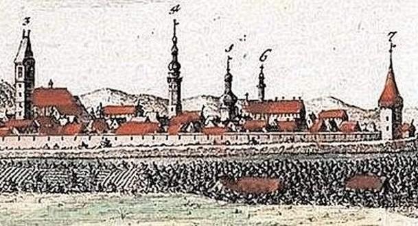 Średniowieczna panorama Koźla w którym Mikołaj spędził swoją młodość. Jak wyglądał, nie wiadomo