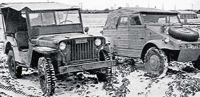Amerykanie prowadzili testy porównawcze Jeepów i zdobycznych VW Typ 82 Kübelwagen
